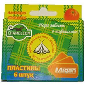 Антимоль - Хамелеон пластины в коробке 6 шт (апельсин) (Я-209)