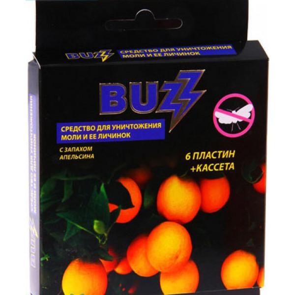 Антимоль - BUZZ к-т для уничт. моли и её личинок (апельсин) (6пласт.+кассета) (И-438)