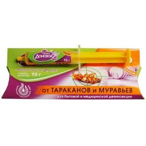 ДОМОВОЙ - Гель ТРОЙНОЙ УДАР  Эконом шприц 15 г