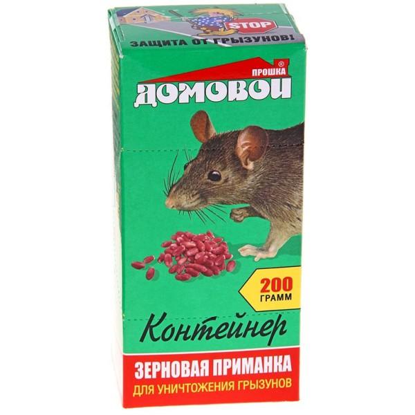 ДОМОВОЙ - зерно от грызунов, контейнер 200 г