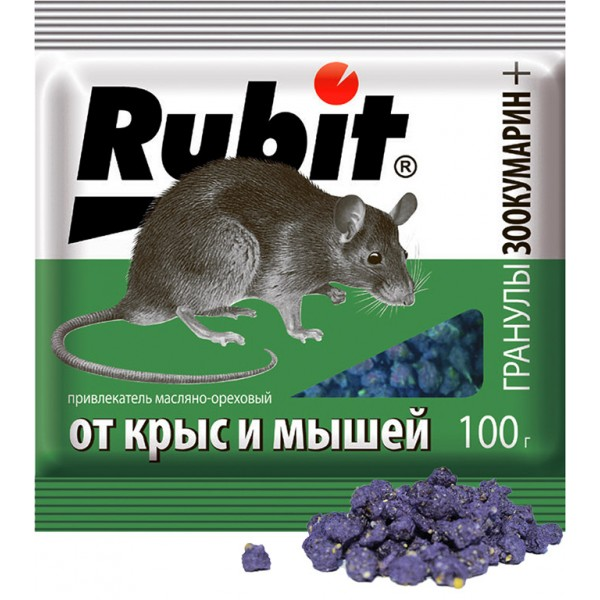 Рубит Зоокумарин + гранулы 100 гр.