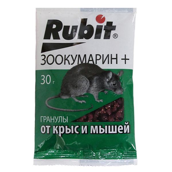 Рубит Зоокумарин + гранулы 30 гр.