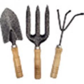 Набор садовый металлический, деревянная ручка, 3 предмета (XL3223)