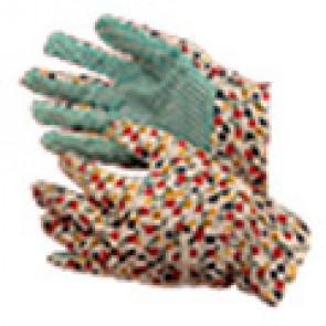 Перчатки садовые латексное покрытие (302А) (зеленый)