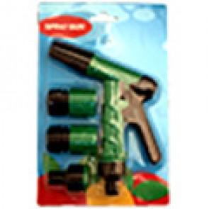 Пистолет-распылитель с 3-мя адаптерами, пластик (6002-3)
