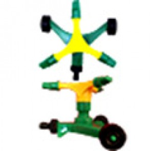 Распылитель садово-огородный пластиковый, платформа на колесах, 3 сопла, 17*19 см (XS-3014)