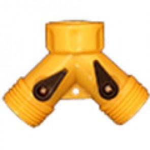 Тройник для шланга со стопором, пластик (FY-03)
