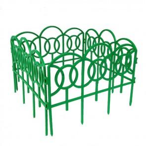 Заборчик Дек ажур-й пластик БАРОККО(зеленый) 5шт 3м