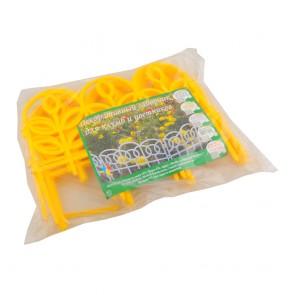 Заборчик Дек ажур-й пластик ФЛОРА (желтый) 5шт 3м