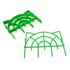 Заборчик Дек ажур-й пластик РОККОКО (зеленый) 5шт 3м