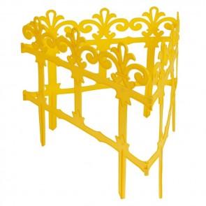 "Заборчик ""Роскошный сад"" желтый пластик 7 секций (2.67м) (уп1/17шт)"