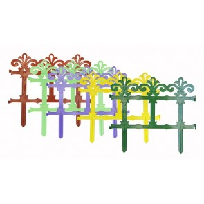 """Заборчик """"Роскошный сад"""" мята-фиолет пластик 7 секций (2.67м) (уп1/17шт)"""