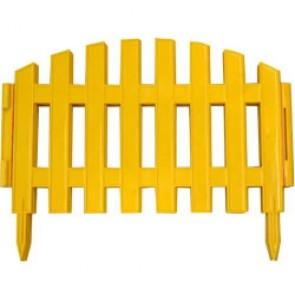 "Заборчик ""Уютный сад"" желтый пластик 7 секций 2.67 м"