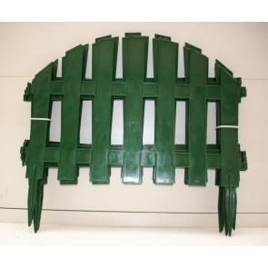 """Заборчик """"Уютный сад"""" зеленый пластик 7 секций 2.67 м"""