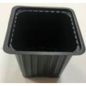 Горшок квадратный 6*6*6 (полистирол)