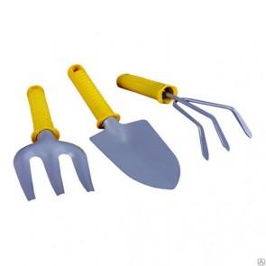Набор садовый металлический, пластиковая ручка, 3 предмета (XL3168-2)