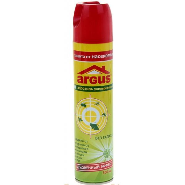 Аэрозоль ARGUS универсальный от мух, комаров, мошек, моль, тараканов, муравьев 300 мл