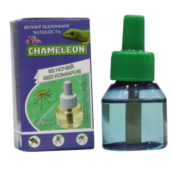 Жидкостной флакон  Хамелеон от КОМАРОВ альпийская свежесть 60 ночей 45 мл Я-224
