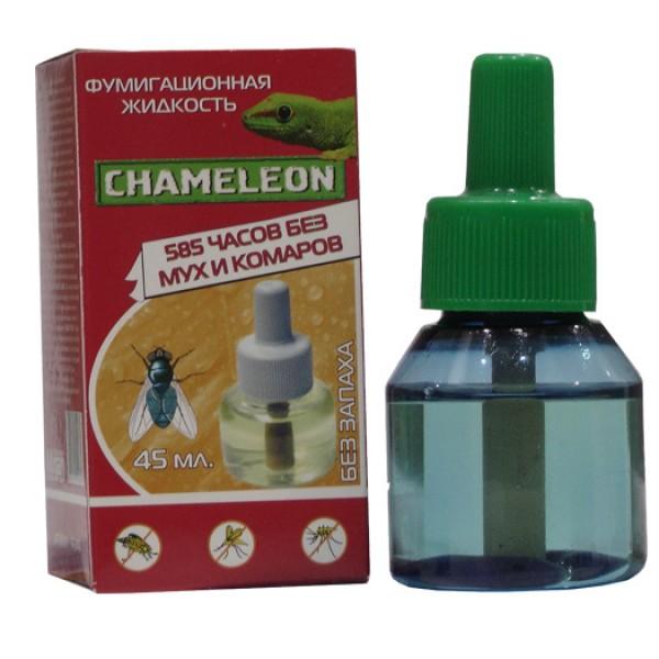 Жидкостной флакон  Хамелеон от Мух и  Комаров 585 часов 45 мл