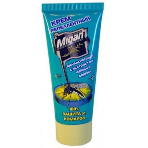 Крем Миган от комаров, москитов, мошек, (чайное дерево)  Я-250-60