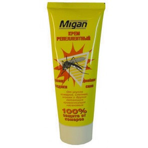 Крем Миган от комаров, москитов, мошек,75мл  дв сила с ароматом гвоздики Я-247-30