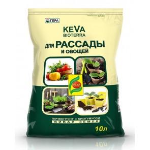 Грунт  -Био KEVA BIOTERRA для Рассады и овощей 10 л