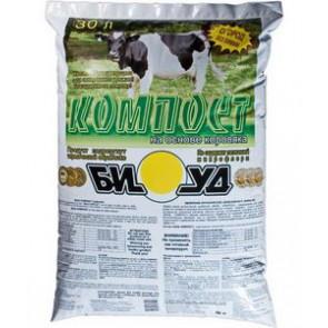 Биокомпост (на основе сухого коровьего навоза) 10 л