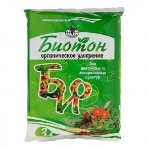 Биотон для цветочных и декоративных культур 3 л