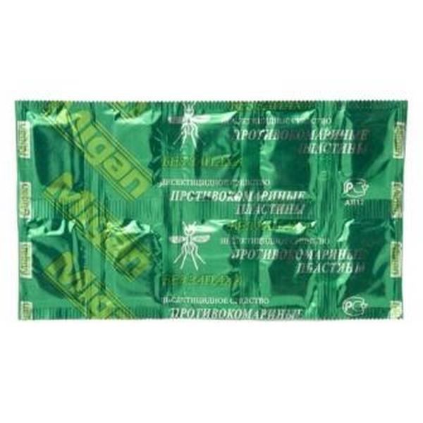 Пластины  МИГАН Зеленые без запаха 10 шт Я-243