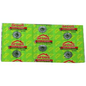 Пластины  ARGUS - от комаров  (10 шт.)  зеленые без запаха