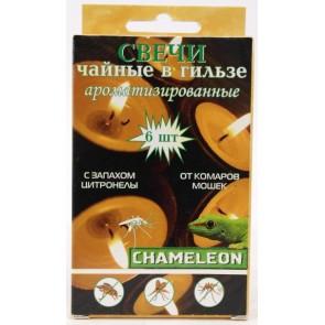 Свеча Хамелеон репеллентная от комаров цитронела 15 г. 6 шт. Я-233
