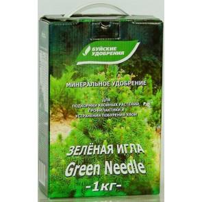 Зеленая игла средство от побурения хвои 1 кг (коробка)